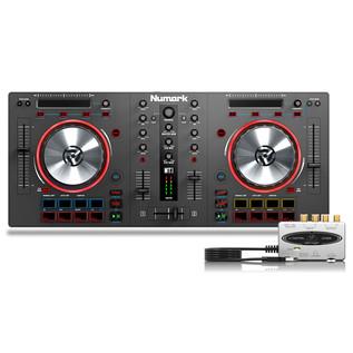Numark Mixtrack III DJ Controller with Behringer UCA202
