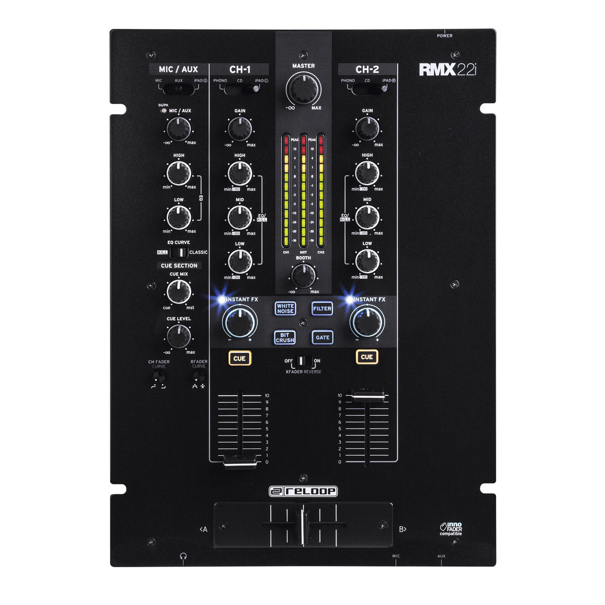 reloop rmx 22i 2 channel dj mixer nearly new at gear4music. Black Bedroom Furniture Sets. Home Design Ideas