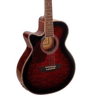 Freshman FA1AWRLH Electro Acoustic Guitar w/ Free Hardcase, Wine Red
