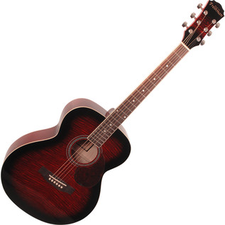 Freshman RENFWR Folk Acoustic Guitar, Wine Red