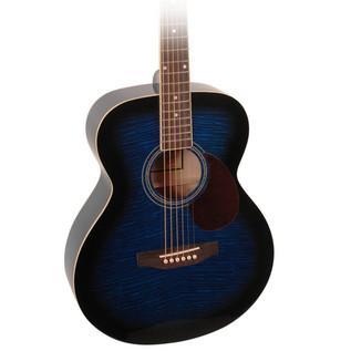 Freshman RENFBL Folk Acoustic Guitar w/ Free Hardcase, Blue