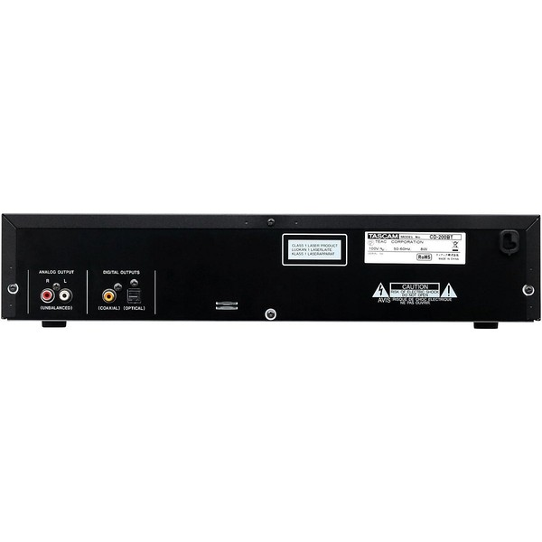 Tascam CD-200BT Rack Mount CD Player With Bluetooth