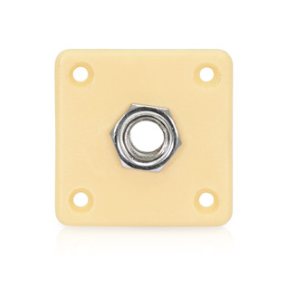 Guitarworks Loaded Square Jack Plate, Cream