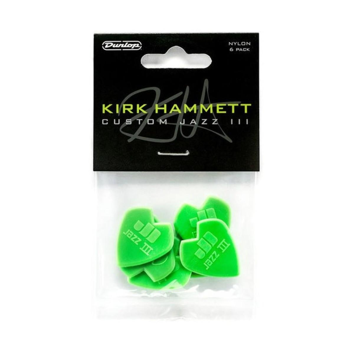 dunlop kirk hammett custom jazz iii picks pack of 6 at gear4music. Black Bedroom Furniture Sets. Home Design Ideas