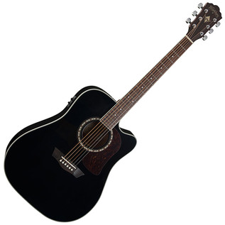 Washburn HD10SCEB Electro Acoustic Dreadnought Guitar, Black