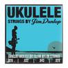 Dunlop Ukulele koncert Pro-4 struny zestaw