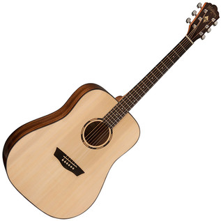 Washburn Woodline WLD10S Dreadnought Acoustic Guitar, Natural