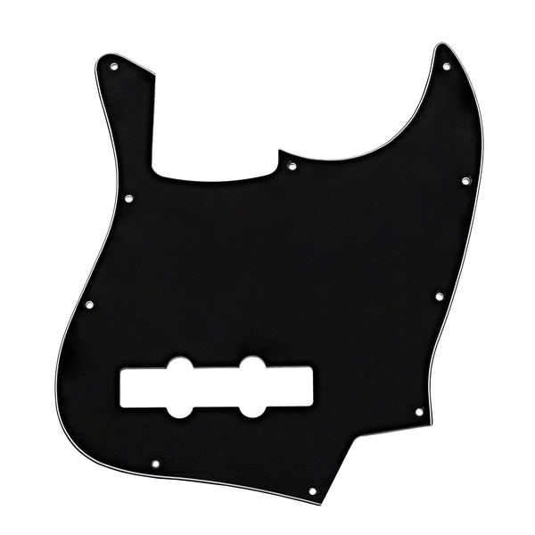 10-Hole SS Bass Scratchplate, Black
