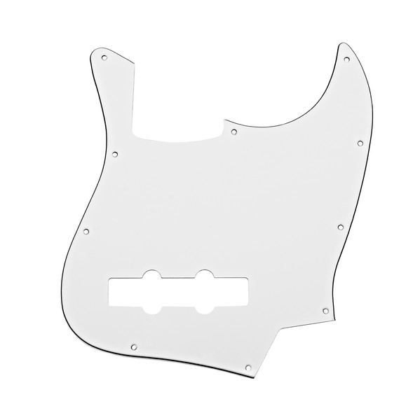 10-Hole SS Bass Scratchplate, White