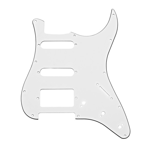 11-Hole HSS Scratchplate, White
