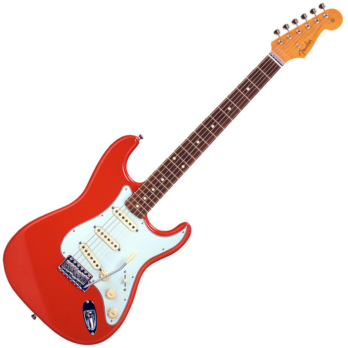 disc fender fsr classic 39 60s stratocaster fiesta red at gear4music. Black Bedroom Furniture Sets. Home Design Ideas