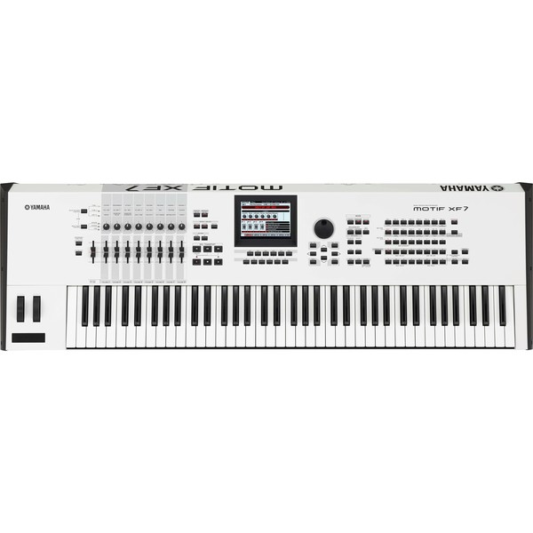 DISC Yamaha MOTIF XF7 Keyboard Workstation, Limited Edition White