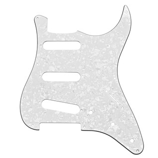 11-Hole SSS Scratchplate, White Pearloid
