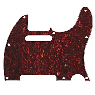 8-Hole SS Scratchplate, Red Tortoise Shell