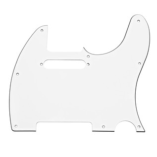 8-Hole SS Scratchplate, White