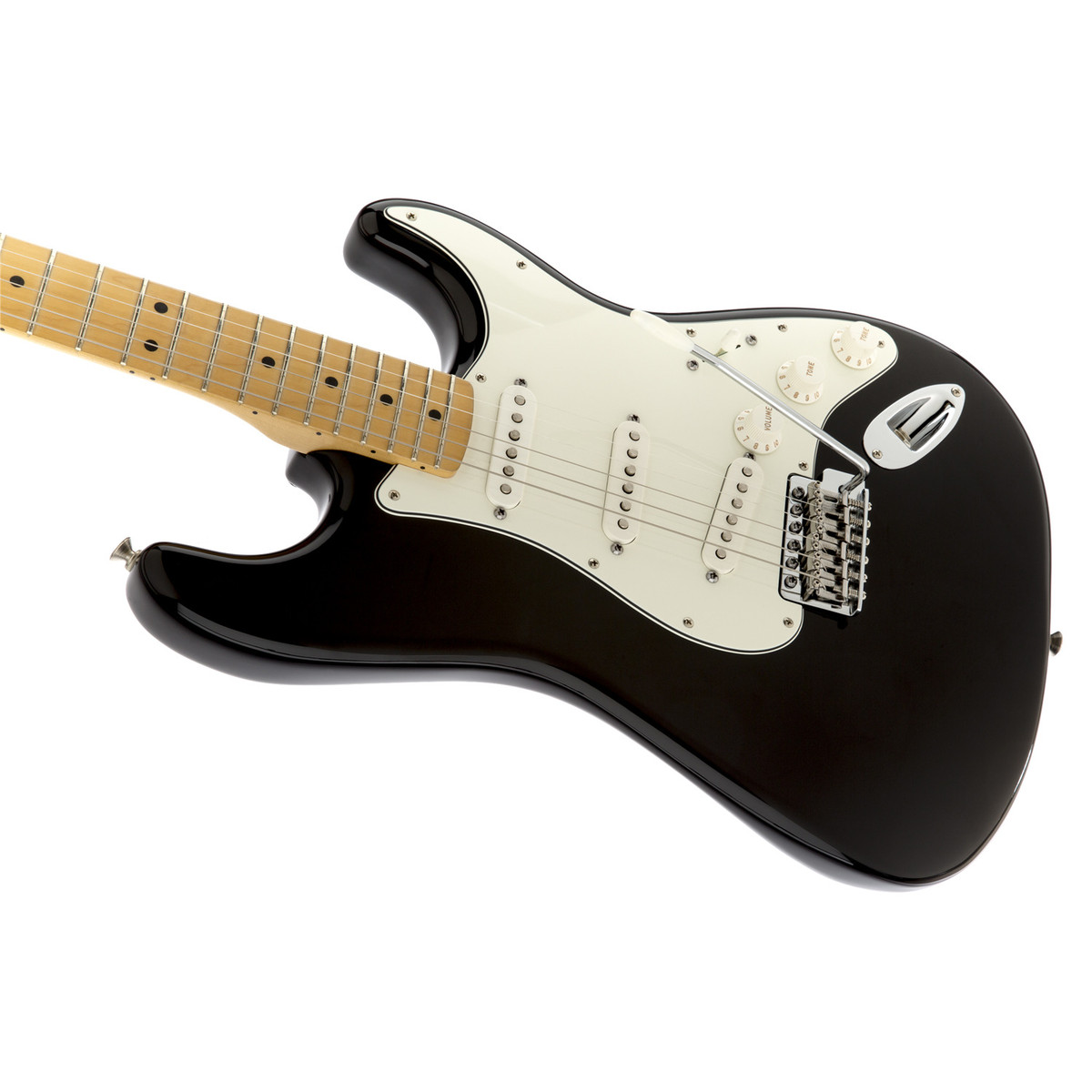 Disc Fender Standard Stratocaster Mn Black At Gear4music With Guitar Wiring Harness 3 Way Switch 2 Humbuckers Furthermore Loading Zoom