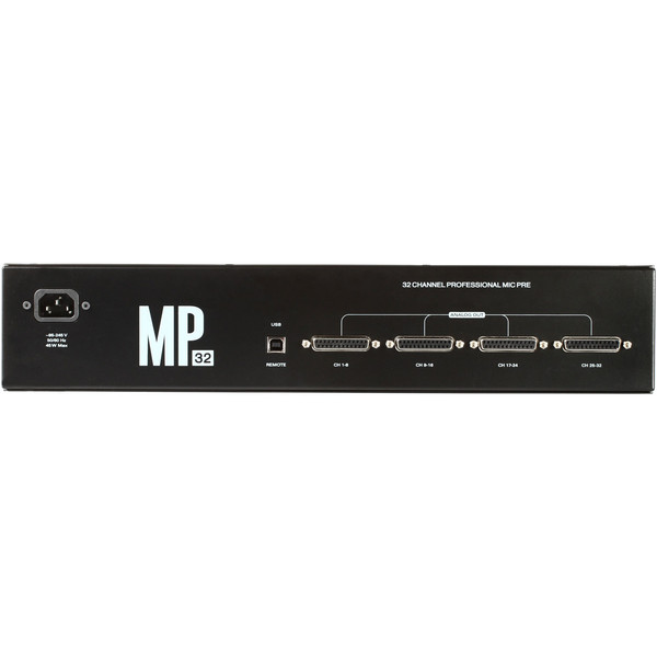 Antelope Audio MP32 32-Channel Microphone Preamp - Rear