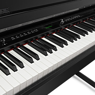 DP-90U Upright Digital Piano by Gear4music, Polished Ebony