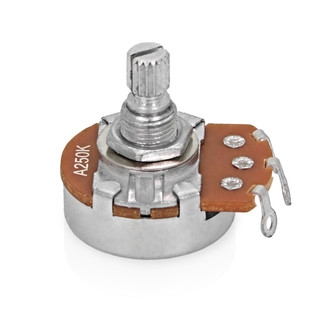 Tone Pot, 250K, Split Knurled Shaft