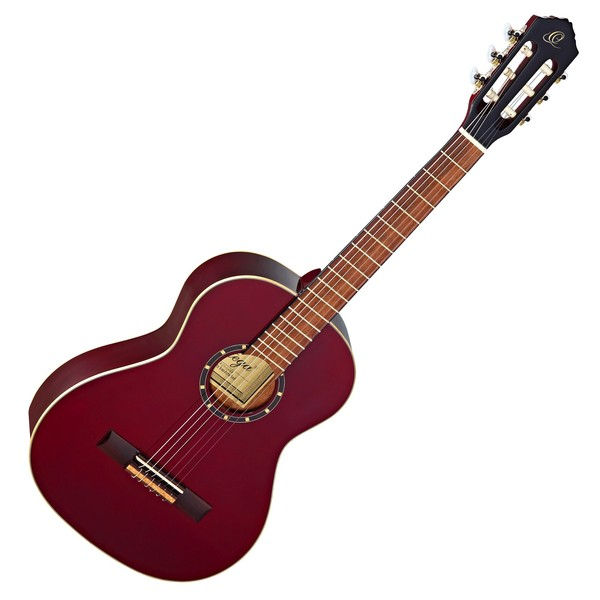 Ortega R121-3/4 Classical Guitar, Wine Red