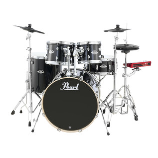 Pearl ePro EXX 22'' Fusion Drum Kit, Jet Black with Hardware