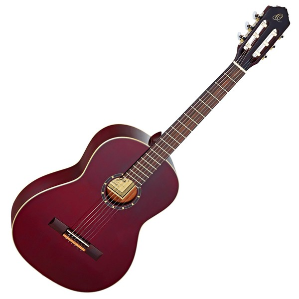 Ortega R131SN-WR Classical Guitar, Slim Neck Wine Red