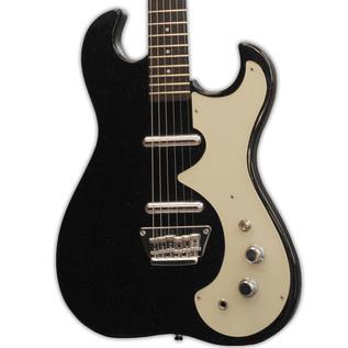 Silvertone 1449 Electric Guitar + SubZero Tube-5 Pack, Black Flake