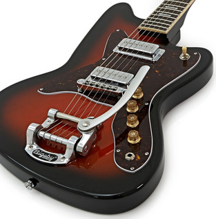 Silvertone 1478 Electric Guitar + SubZero Tube20R Amp Pack, Red Burst
