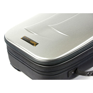 BAM New Trekking Double Clarinet Case, Brushed Aluminium Finish