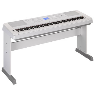 Yamaha DGX660 Digital Piano with Stand, White