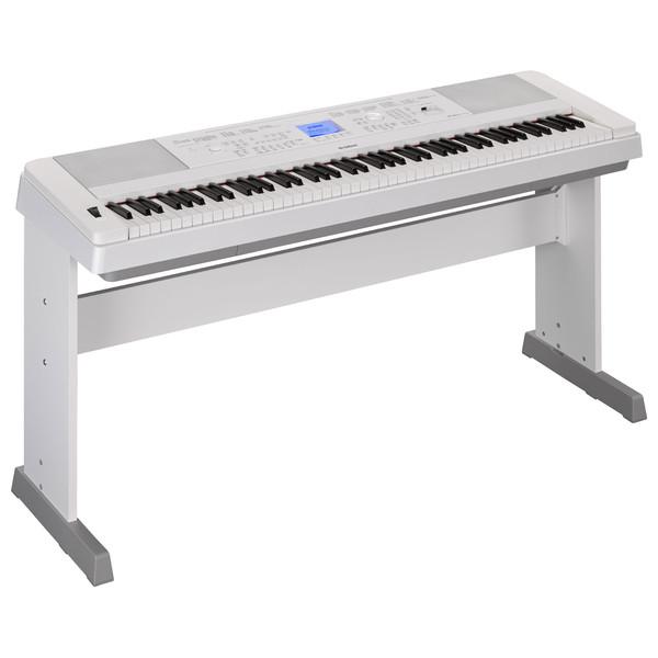Yamaha DGX660 Digital Piano with Stand, White