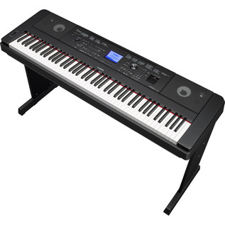 Yamaha DGX660 Digital Piano with Stand, Black