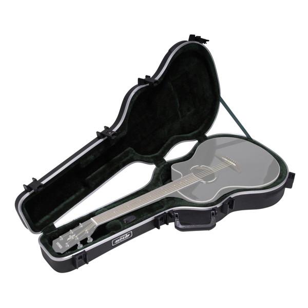 SKB Thin-line AE/Classic Hardshell Guitar Case - Angled