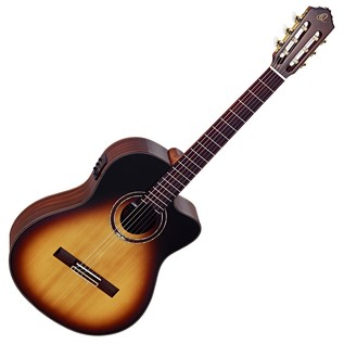 Ortega RCE158SN-TSB Classical Guitar, Slim Neck Tobacco Sunburst