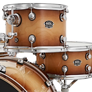 Natal Arcadia 5 Piece TRC Drum Kit With Hardware Pack, Tobacco Burst