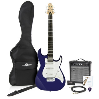 Greg Bennett Malibu MB-1 Electric Guitar + Amp Pack, Midnight Blue