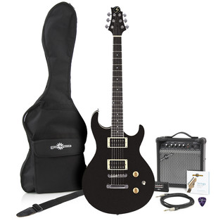 Greg Bennett Ultramatic UM-1 Electric Guitar + Amp Pack, Black