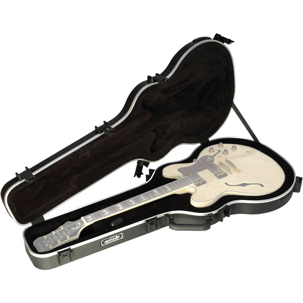 SKB 335 Deluxe TSA Case for Semi Acoustic Guitar - Open (Guitar Not Included)