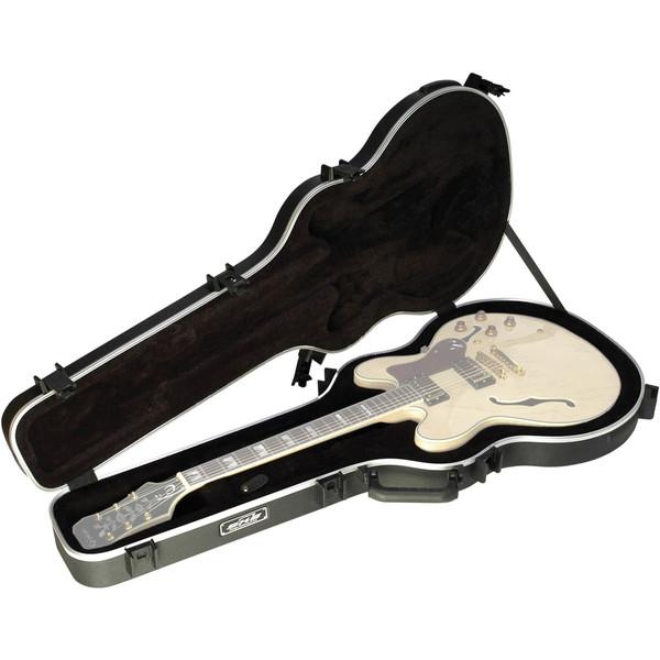 SKB 335 Deluxe TSA Case for Semi Acoustic Guitar - Open (Guitar Not Included)
