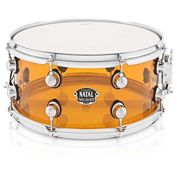Natal Arcadia 14 x 6.5 Acrylic Snare, Transparent Orange