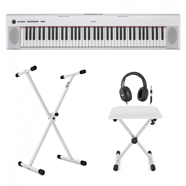 Yamaha Piaggero NP32 Portable Digital Piano X Frame Package, White