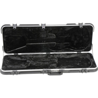 SKB Rectangular Deluxe Electric Guitar Case - Case Open 2
