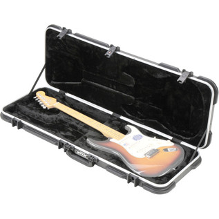 SKB Rectangular Deluxe Electric Guitar Case - Case Open (Guitar Not Included)