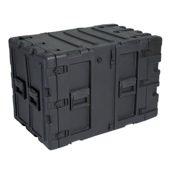 "SKB 11U Shock Rack 24"" Deep, Black - Angled"