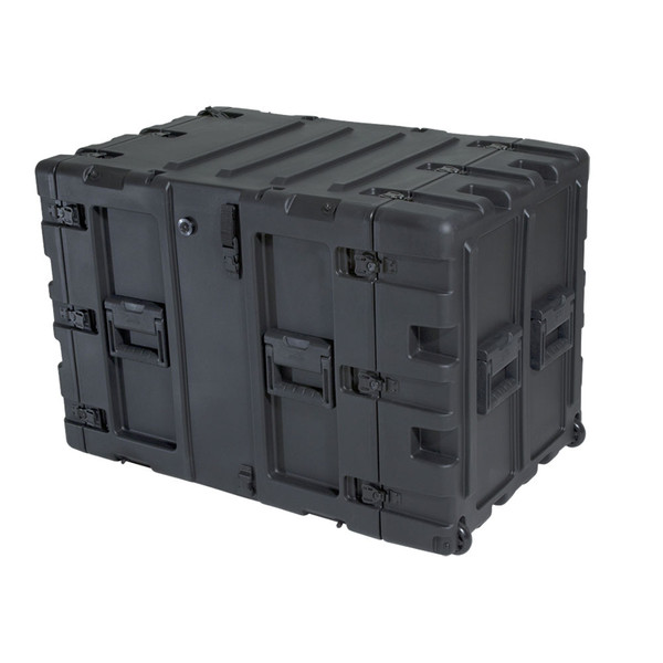 "SKB 11U Shock Rack 24"" Deep, Black - Angled 2"