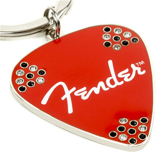 Fender Red Pick Rhinestone Key Chain