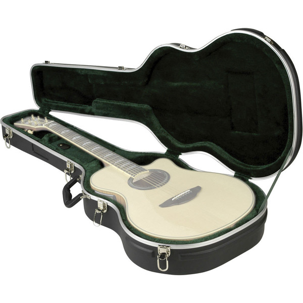 SKB Thin-line Acoustic/Classical Economy Guitar Case - Case Open (Guitar Not Included)