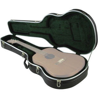 SKB Economy Dreadnought Hardshell Case - Open (Guitar Not Included) View 2
