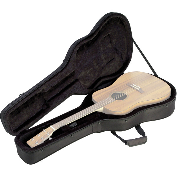 SKB SC18 Dreadnought Acoustic Soft Case, EPS Foam - Open (Guitar Not Included)