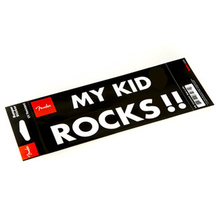 Fender Bumper Sticker My Kid Rocks
